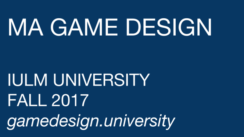 MASTER OF ARTS GAME DESIGN IULM