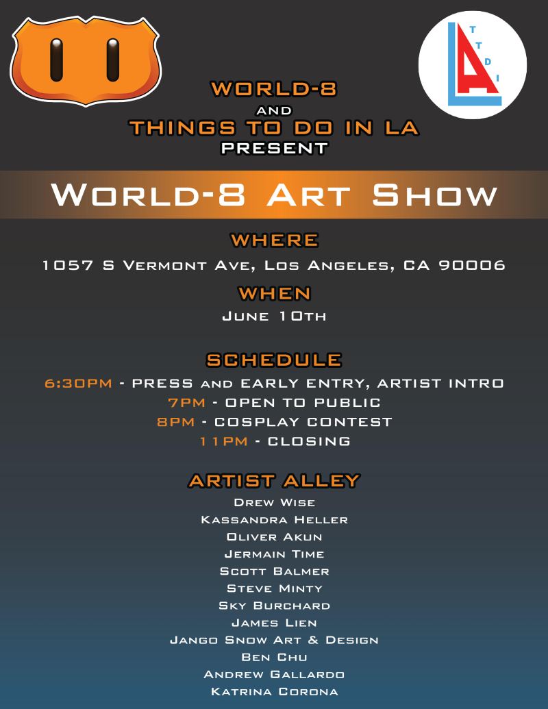 World 8 art show